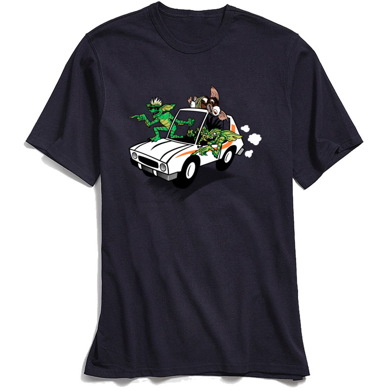 Gremlinz T Shirts for Men Casual April FOOL DAY Tops Shirt Short Sleeve Coupons Party Tops Tees O-Neck 100% Cotton Fabric Gremlinz navy