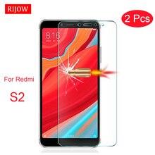 2PcsสำหรับXiaomi Redmi S2 9กระจกนิรภัยRedmi 6 6A Proป้องกันหน้าจอXiaomi Redmi S2ป้องกันฟิล์มแก้ว7 7A 8A 10X