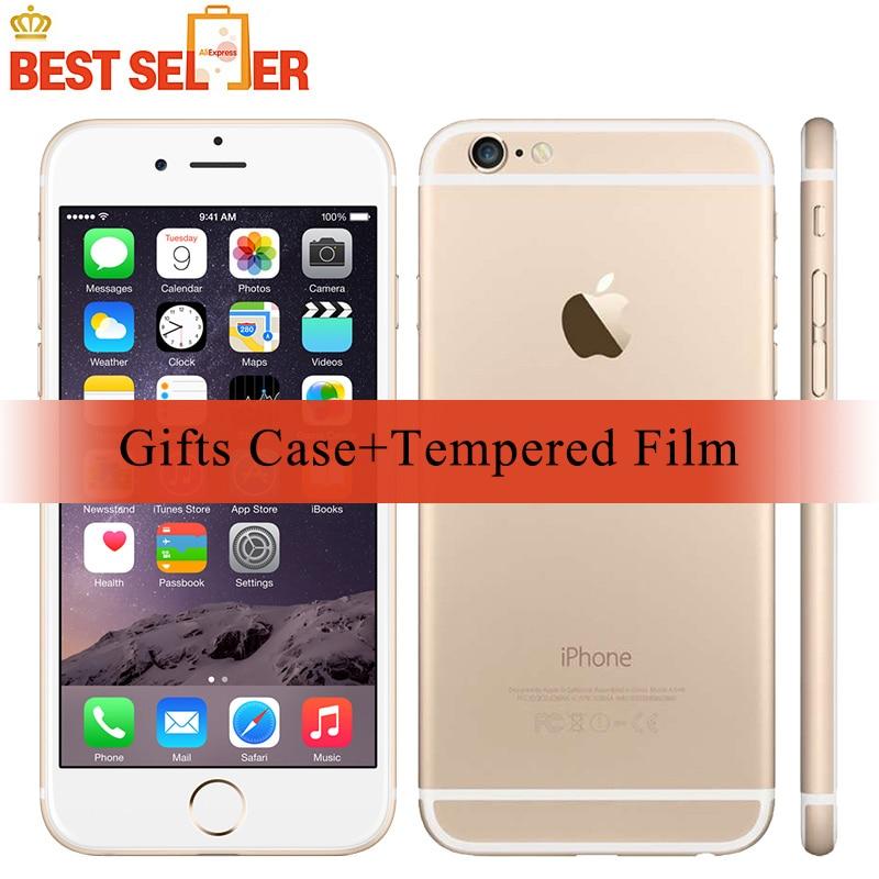 Смартфоны Apple iPhone 6 Original Unlocked IOS 4.7-дюймовый сенсорный экран Бесплатный чехол + фильм LTE CMOS Bluetooth 8.0MP камера для мобильного телефона