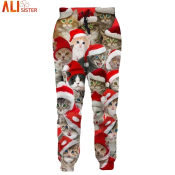 Christmas Cat 3d Sweatpants
