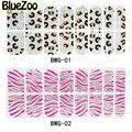 BlueZoo 1 Hojas de La Cubierta Completa 3D Pegatinas de Uñas Colorido Pegatinas de Uñas de Arte Decoración Etiqueta Engomada Del Clavo de DIY Belleza Decoración Consejos