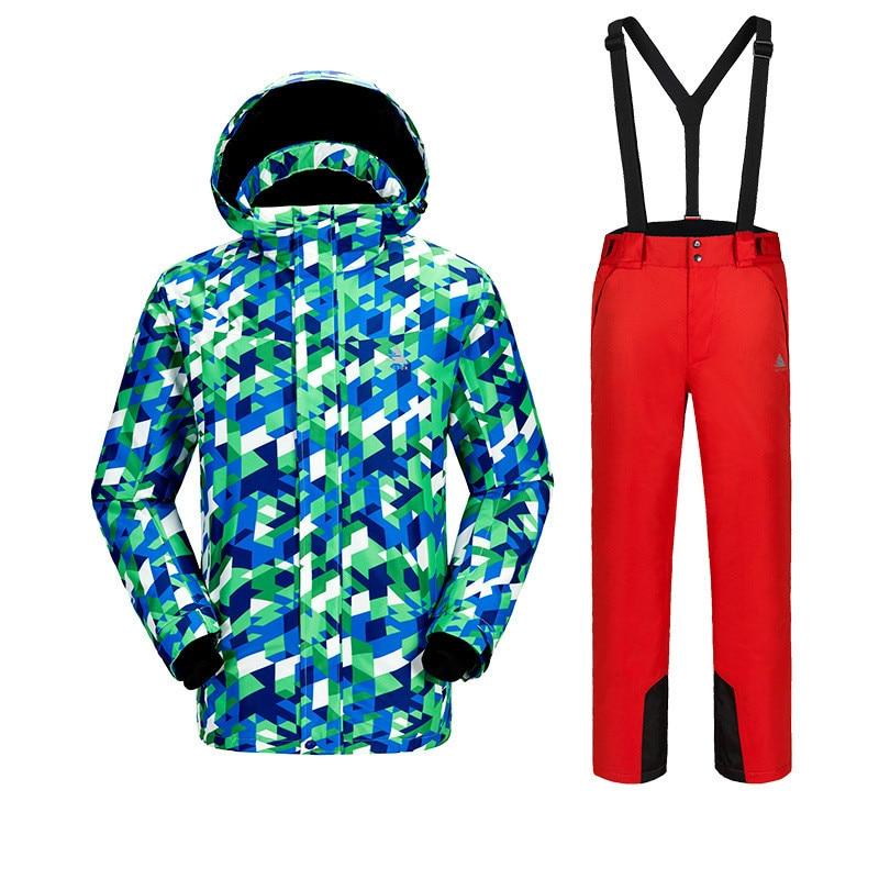 Combinaison de Ski d'hiver pour hommes en plein air chaud coupe-vent respirant imperméable costumes de Ski Camouflage veste de Ski pour hommes pantalon de Ski taille S-XXL