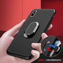 CYATO Luxury Case Phone Holder Cover For Xiaomi 8 8SE Soft TPU Simple Business Coque Xiaomi9 Redmi Note7 Black