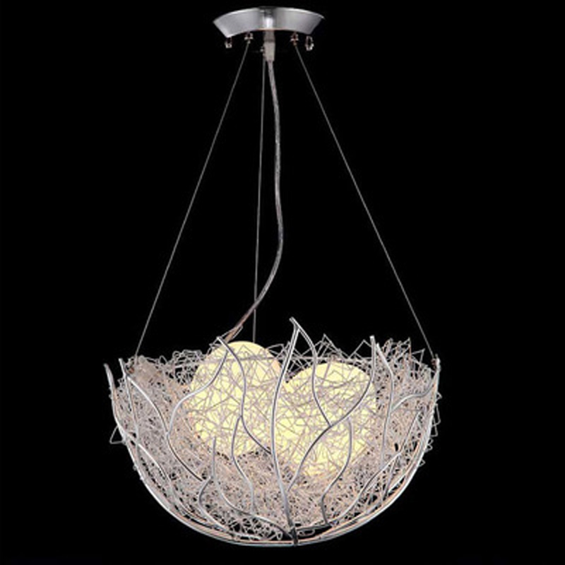 LED bird's nest chandelier modern minimalist creative personality dining room chandelier children bedroom balcony bar room light цена и фото