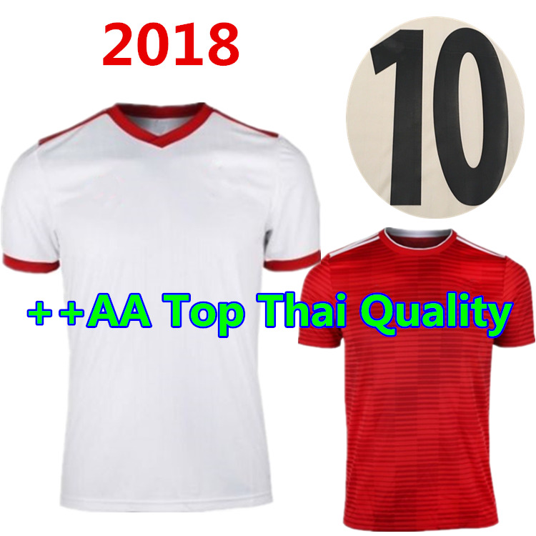 In spot! Best Quality 2018 new Iran man shirts 2019 Casual home Red away white adult shirt Tees Free shipping