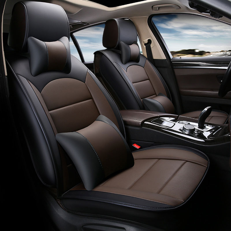 PU leather car seat cover universal car accessories ...