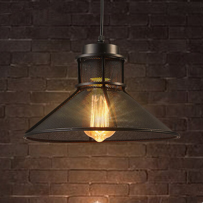 Metal Network Vintage Pendant Lights Retro Lamp Industrial Hanging Lamp Fixtures For Home Lightings Cafe Bar Lamparas Colgantes retro loft style edison industrial vintage pendant lights hanging lamp fixtures for bar home living room lamparas colgantes