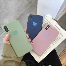Fashion candy pure color phone case For iphone X XR XS MAX lovely love TPU soft shell 6 6s 7 8plus protective