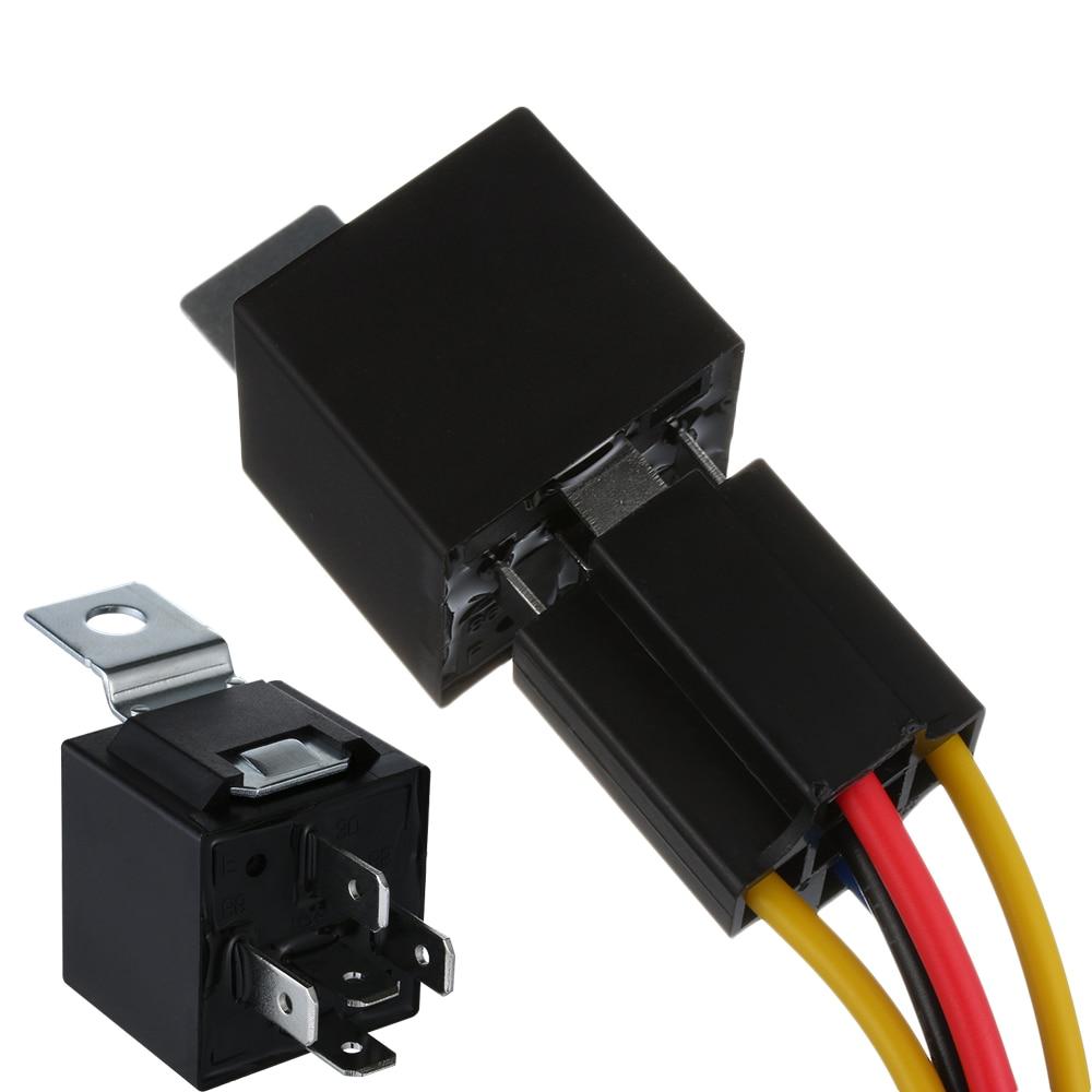 5 Pin 4 Wire 12v 40a Auto Relay Socket Car Fuse Relay