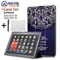 """Caso capa de couro folio stand case couro pu tab2 a10-30 funda para lenovo tab 2 x30f a10-30 10.1 """"tablet"""