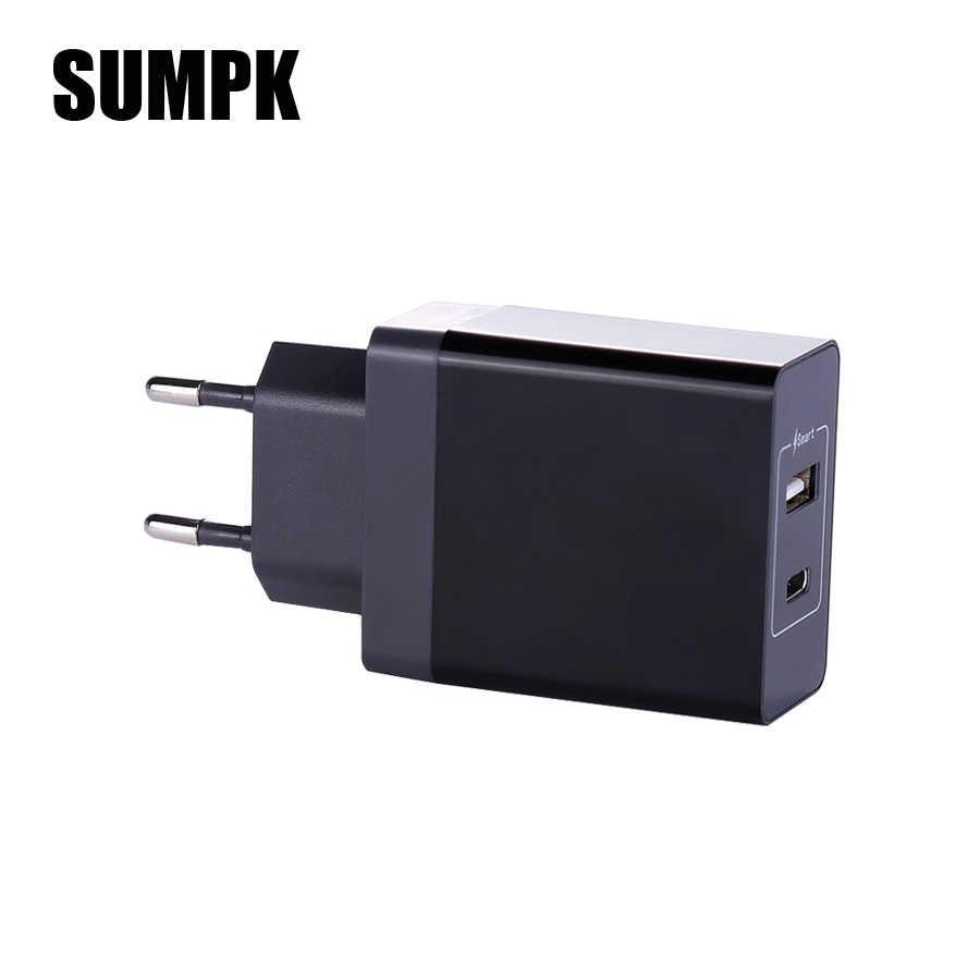 SUMPK USB Type Cผนังชาร์จอย่างรวดเร็วUSB Type Cมือถือชาร์จโทรศัพท์PDชาร์จโทรศัพท์สำหรับiphone 8 X Samsung Galaxy S9