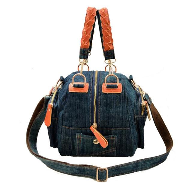 2017 New Casual women denim bag Women small shoulder bags vintage blue jeans crossbody bag ladies purse 2colors bolsa feminina