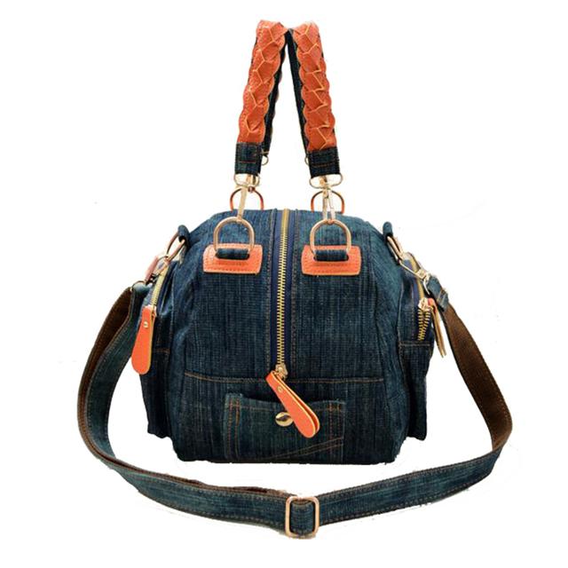 2017 Nova Casual mulheres denim saco azul das calças de brim Das Mulheres pequenos sacos de ombro do vintage saco crossbody bolsa das senhoras 2 cores bolsa feminina