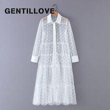 Gentillove сексуальное прозрачное длинное платье рубашка Сетчатое