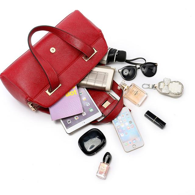Boston leather bags Model woman bags 2016 bag handbag fashion handbags Purse Women's leather women famous brands ME586