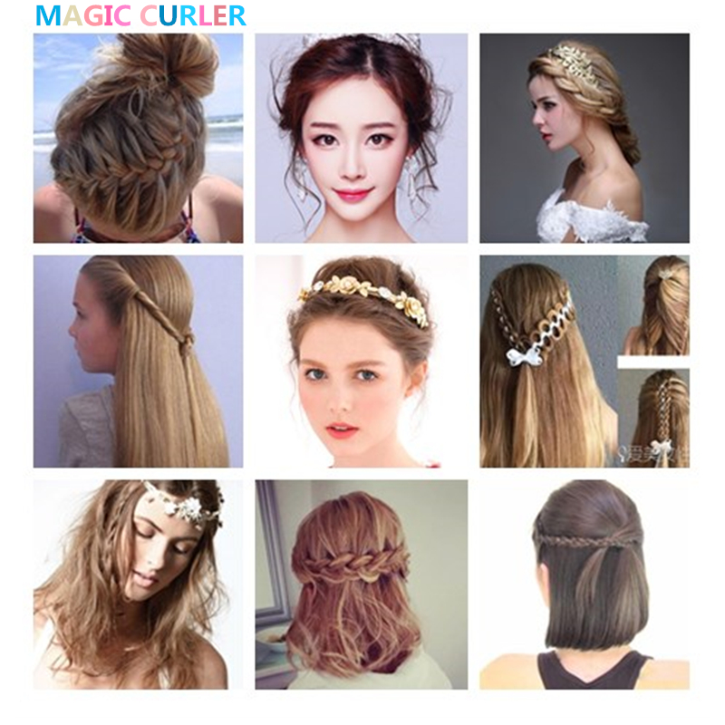 Us 8 8 20 Different Type Hair Accessories Kit Braider Donut Hair Clip Kit For Women Girls Rubber Band Tie Magic Hair Bun Hairpins In Braiders From