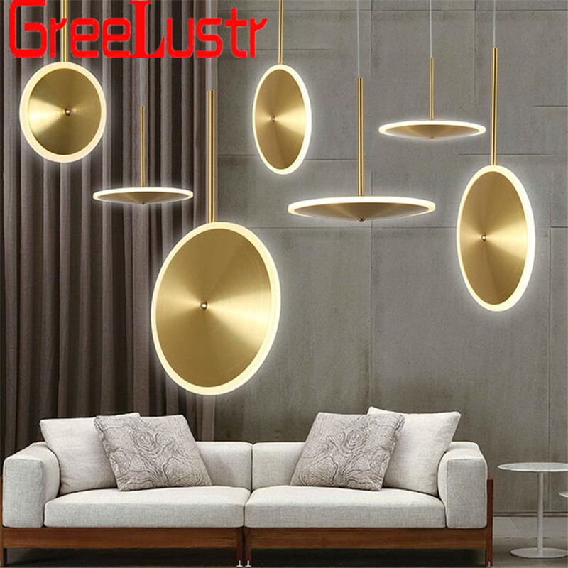 Minimalist Creative Ring Led Chandelier Lighting Plated Gold UFO Design Chandelier Pendant Lamps For Shop Hall Lustre HanglampMinimalist Creative Ring Led Chandelier Lighting Plated Gold UFO Design Chandelier Pendant Lamps For Shop Hall Lustre Hanglamp