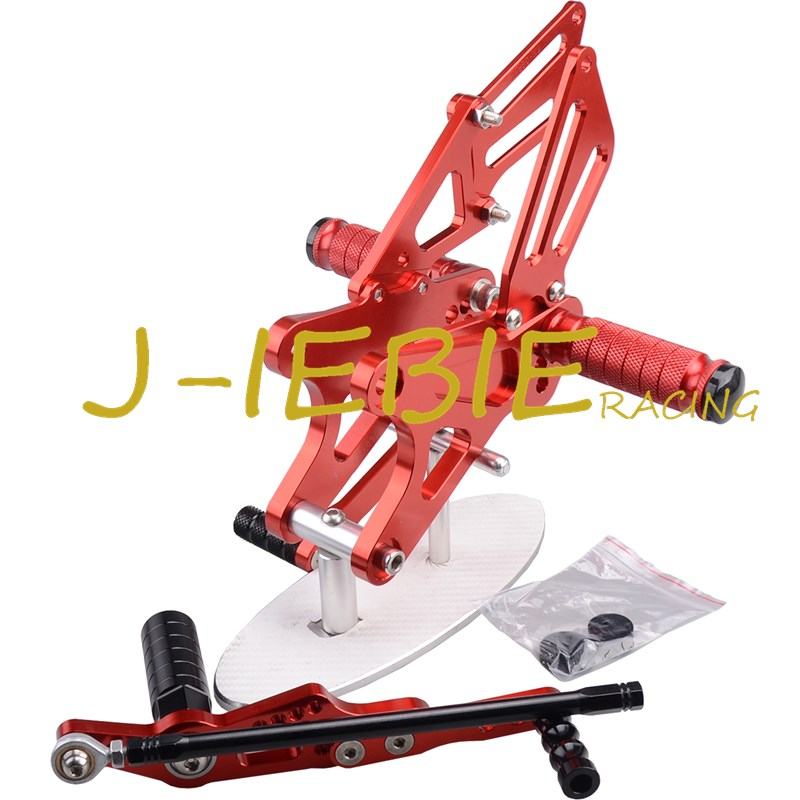 CNC Racing Rearset Adjustable Rear Sets Foot pegs Fit For Yamaha YZF R1 2009 2010 2011 2012 2013 2014 RED car rear trunk security shield shade cargo cover for nissan qashqai 2008 2009 2010 2011 2012 2013 black beige