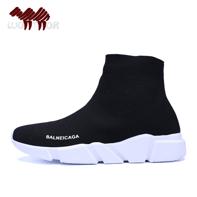 2018 Belanciaga Socks Sneakers Round Bottom Elastic Fabric Sports Shoes Running Shoes Zapatos Mujer Deportivos Boys Girls Shoes