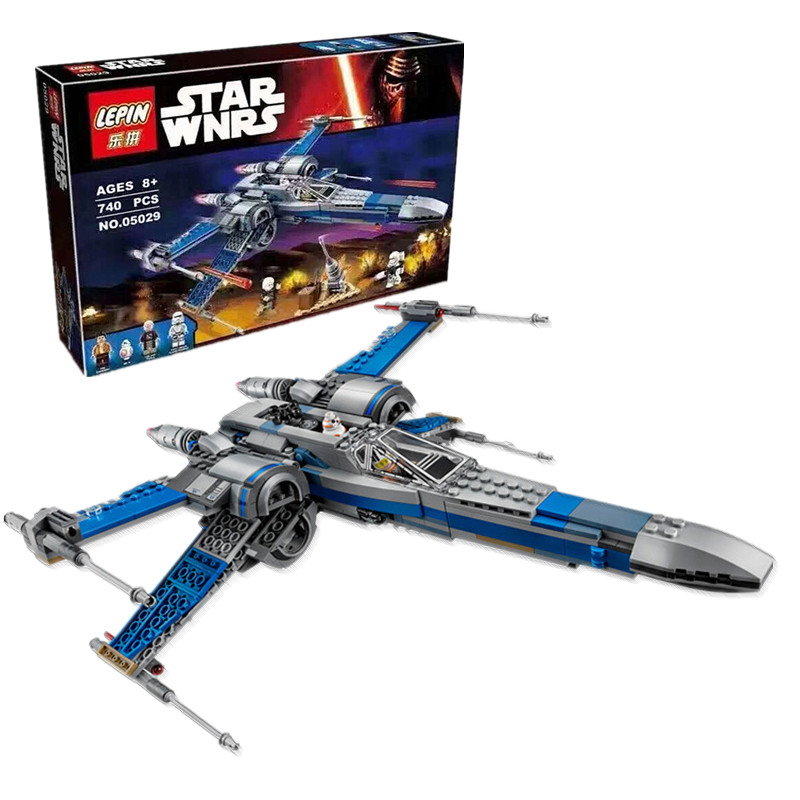 05029 LEPIN Star Wars First Order Poes X-wing Assembled Fighter Star wars Building Blocks Bricks toys for Children