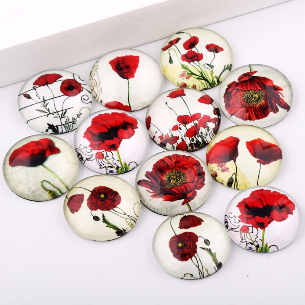 reidgaller Mixed Round Dome Flatback Vintage Flower Photo Glass Jewelry Pendant Cabochon 10mm 12mm 14mm 18mm 20mm 25mmreidgaller Mixed Round Dome Flatback Vintage Flower Photo Glass Jewelry Pendant Cabochon 10mm 12mm 14mm 18mm 20mm 25mm