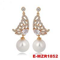 Fashion High Quality Hot Sale Beautiful Pearl Chandelier Earrings