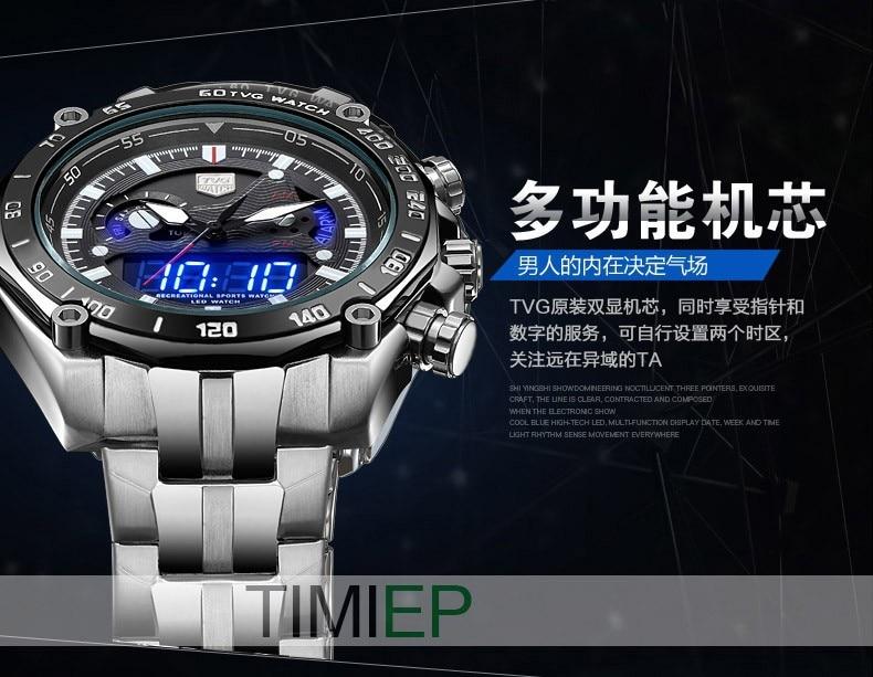 TVG Baru mewah fesyen pelbagai fungsi keluli kuarza tentera tentera - Jam tangan lelaki - Foto 6