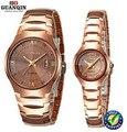 Original GUANQIN Quartz Watch couple waterproof luminous sapphire Men and women Dress watches tungsten steel watch