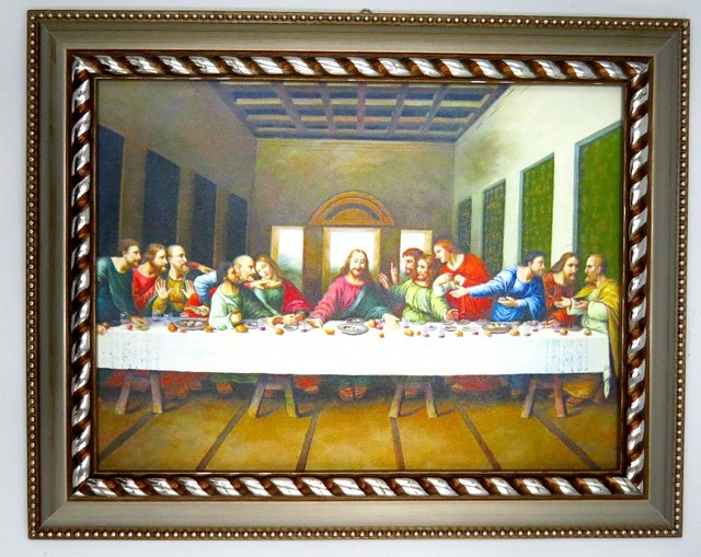 Framed Picture Of Jesus Christ The Last Supper Wall Art For Home