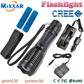 Zk20 Масштабируемые LED Фонарик XM-L T6 4000LM LED Алюминиевый Факел Лампы Для 3 АА или 18650 Батареи
