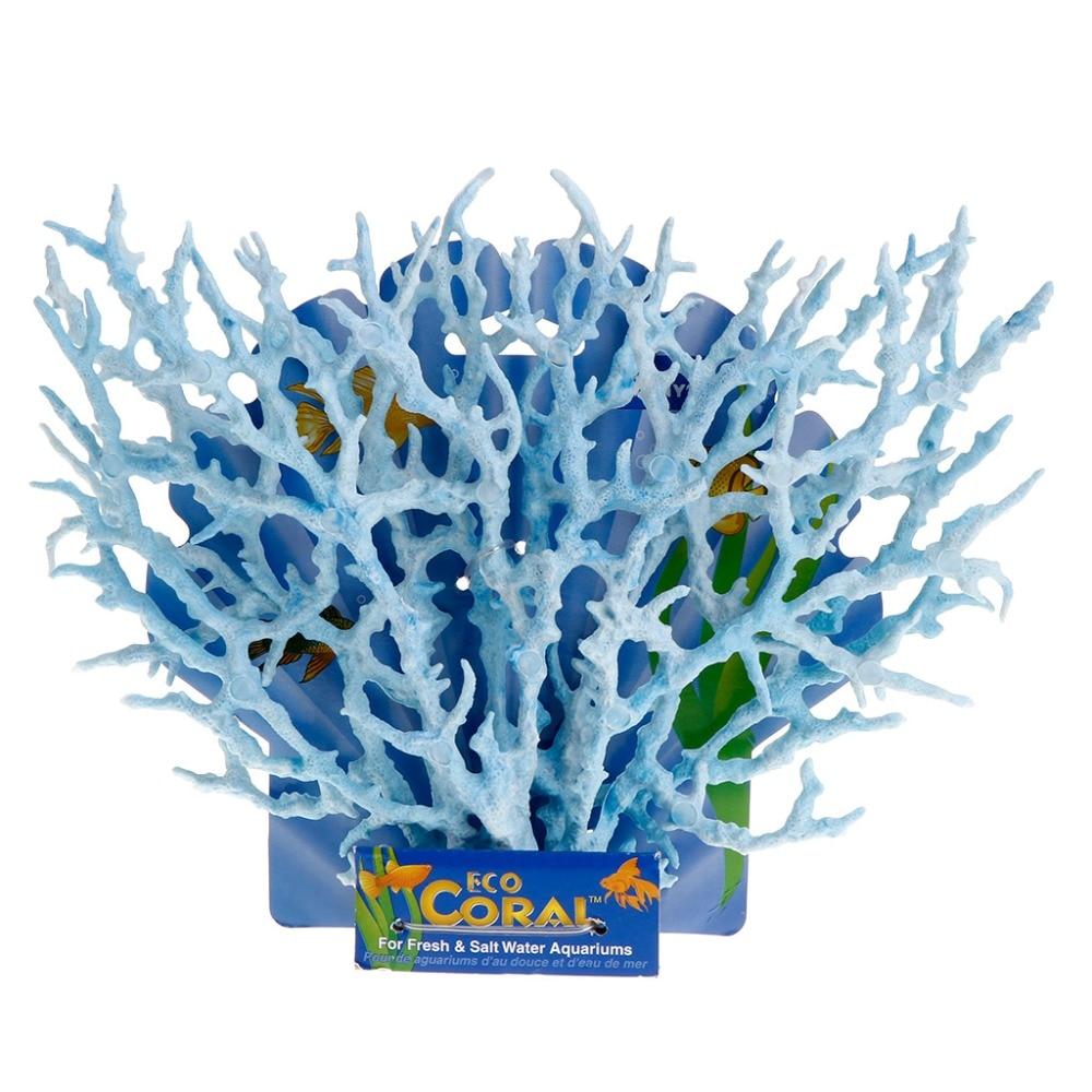 M65 Drop Verzending 2 Stks/set Reef Coral Decoratie Ornamenten Nieuwe Fish Tank Faux Kunstmatige Aquarium Accessoire Blauw Jj2834 Uitstekende Eigenschappen