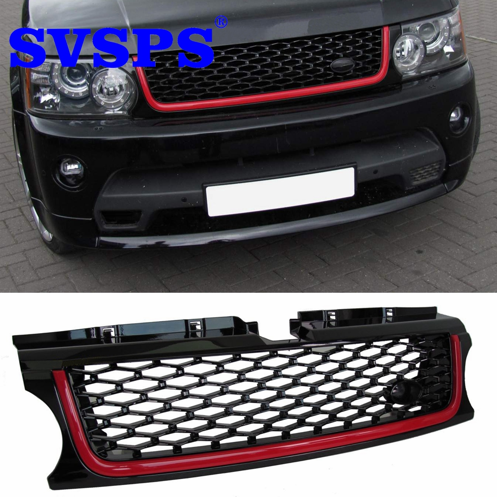цена на high quality Front Middle Grille Autobiography ABS grill for Land Rover Range Rover Sport 2010-2013 year Vehicle 7 colors choice