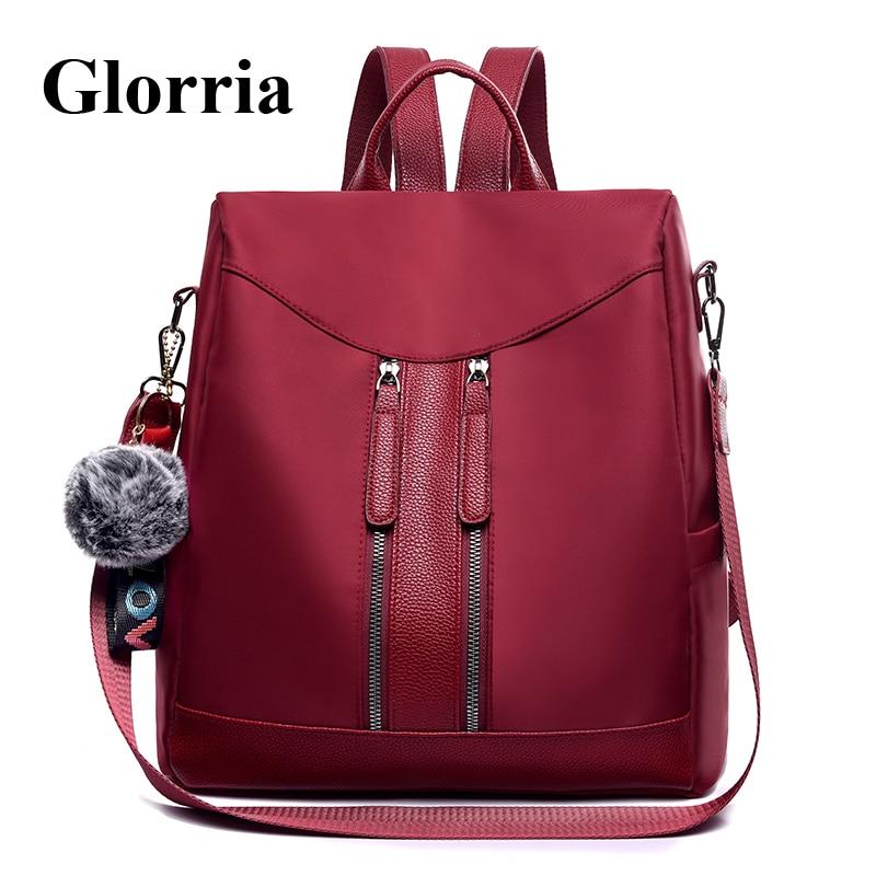 Glorria Luxury Anti Thef Backpack Women Leather Bag Designer Brand Bagpack  for Girls Big Book Bagpack 57b3a2e849b8c
