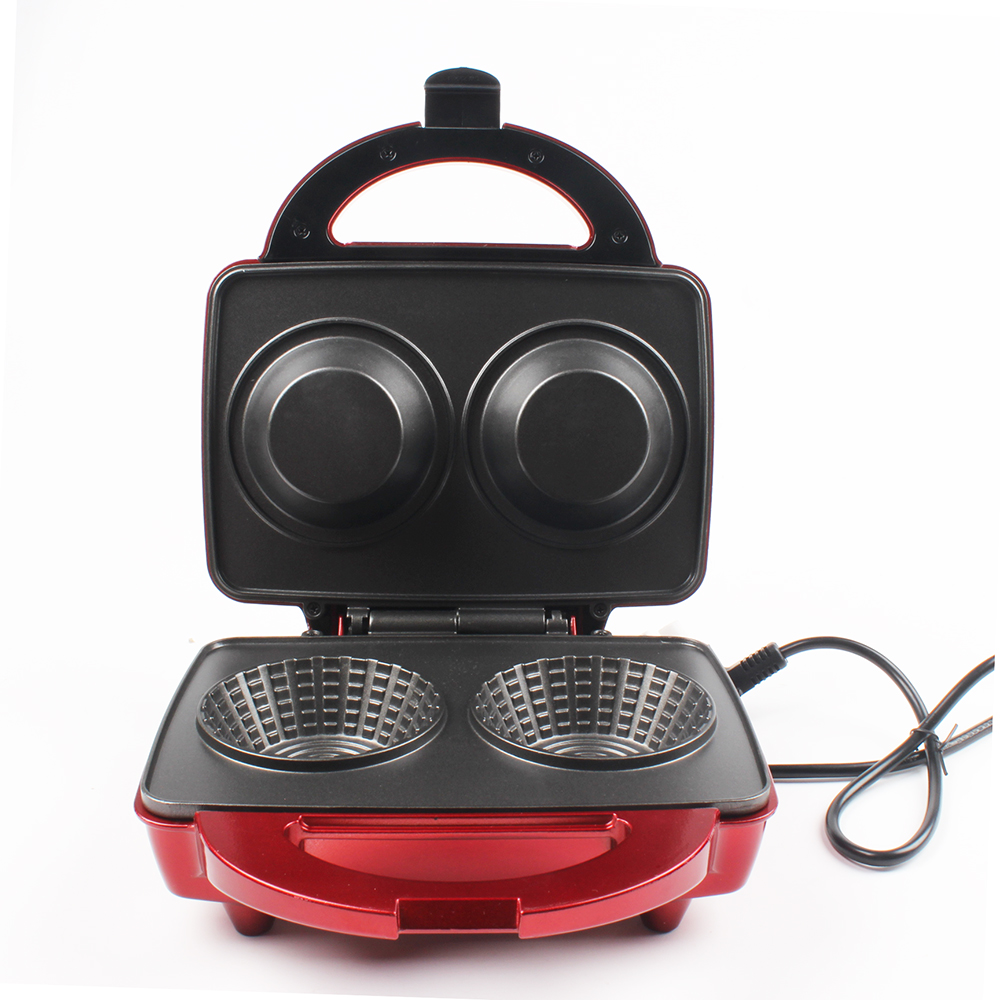 DMWD Double-sided Heating Waffle Maker DIY Waffle Bowl Machine Ice Cream Cone Machine Breakfast Crepe Maker 220V 650W