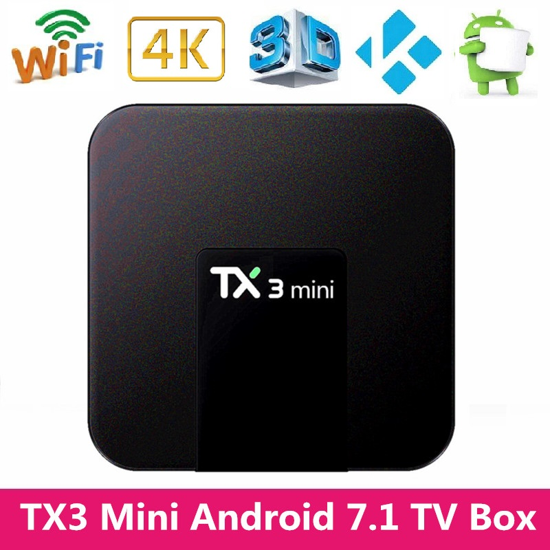 Mesuvida TX3 Mini Smart Android 7,1 TV Box 2 GB RAM 16 GB ROM Amlogic S905W 2,4 GHz WiFi 1,5 GHz 4 K 64Bit HD WIFI Media Player