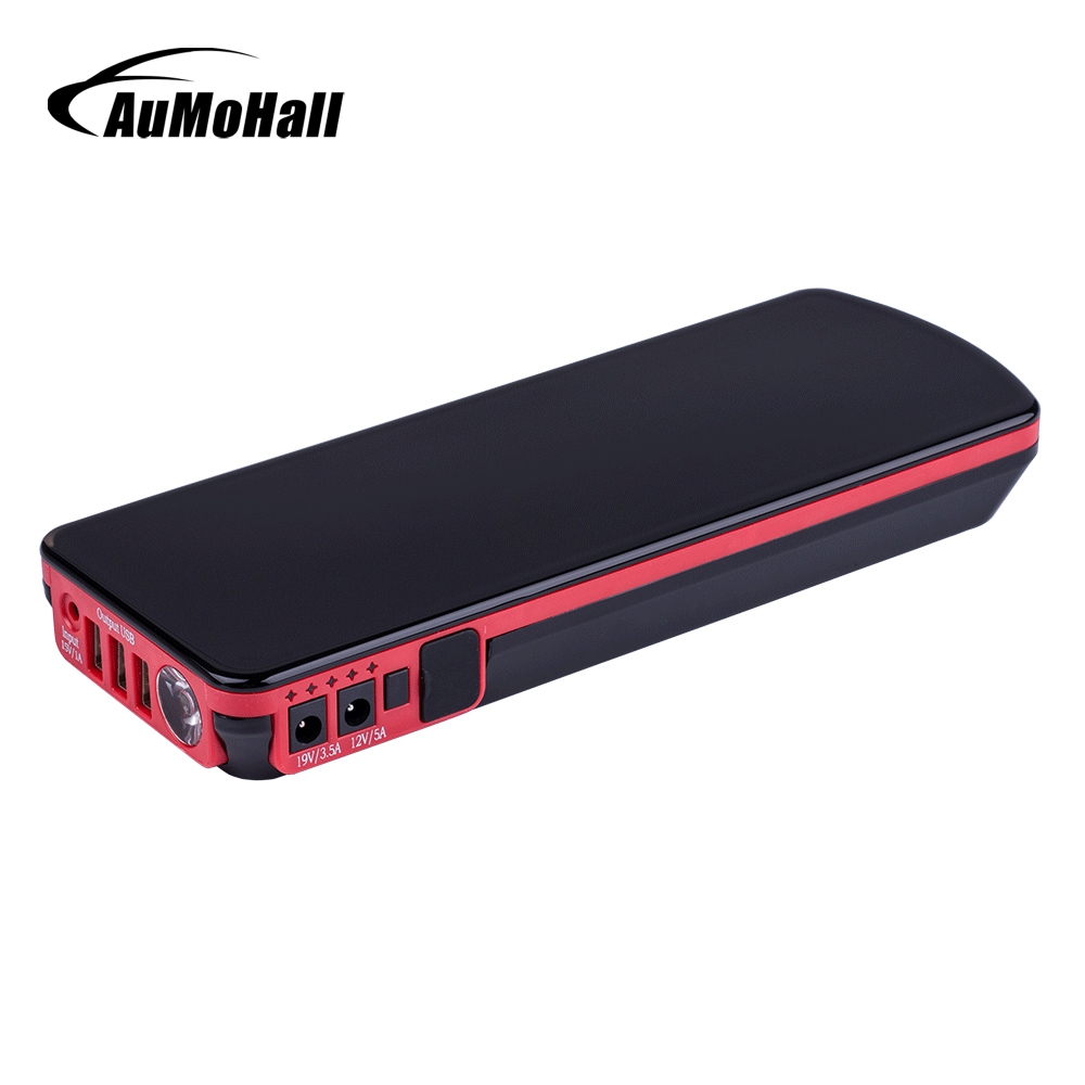 AuMoHall Multi-Function Portable Rechargeable Charger 12V Car Emergency Battery Jump Starter Booster for Diesel&Gasoline Car