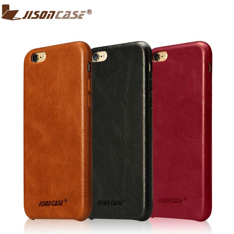 8c30425ed4cd71 Detail Feedback Questions about Jisoncase Genuine Leather Case for iPhone 6  plus 6s plus Cases Cover Luxury Thin Slim Hard Back Covers for iPhone 5.5  inch ...
