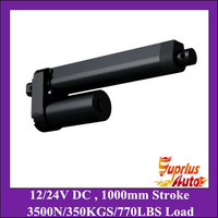 High Quality 1000mm Long Stroke 3500N 350KGS Heavy Load 8mm S Speed 12V DC Black Linear
