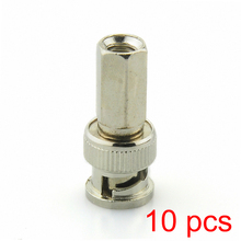 10x BNC Male Twist-on RG59 Connector for CCTV Coax Coaxial Security Cameras