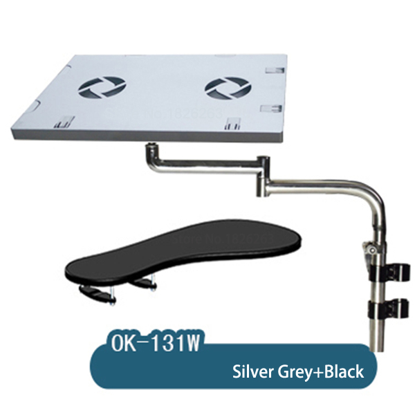 Laptop Stand Mounts & Holder Hyvarwey Ok131 Full Motion Multifunctional Bow Chair Clamping Keyboard/ Mouse Pad Support Laptop Desk Holder Lapdesk To Be Highly Praised And Appreciated By The Consuming Public