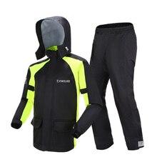 Adult Rainstorm Men Raincoat Set Motorcycle Waterproof Rain Pants Suit Body Riding Outdoor Women Travel R6