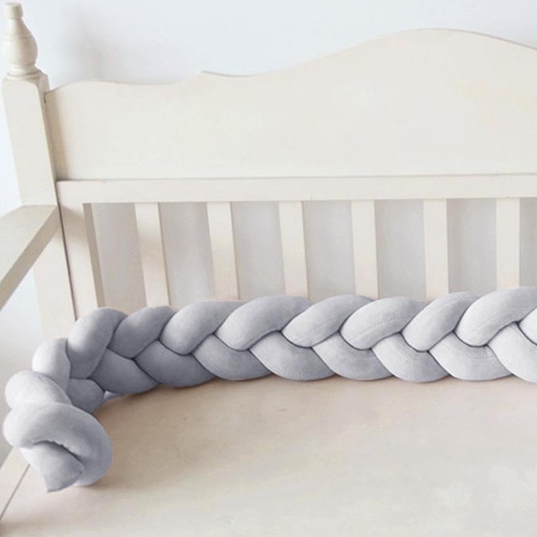 1M 2M Baby Handmade Bed Bumper DIY Newborn Baby Hand woven Crib Bed Wrap Baby Knotted Pillow Twist Cushion in Bumpers from Mother Kids