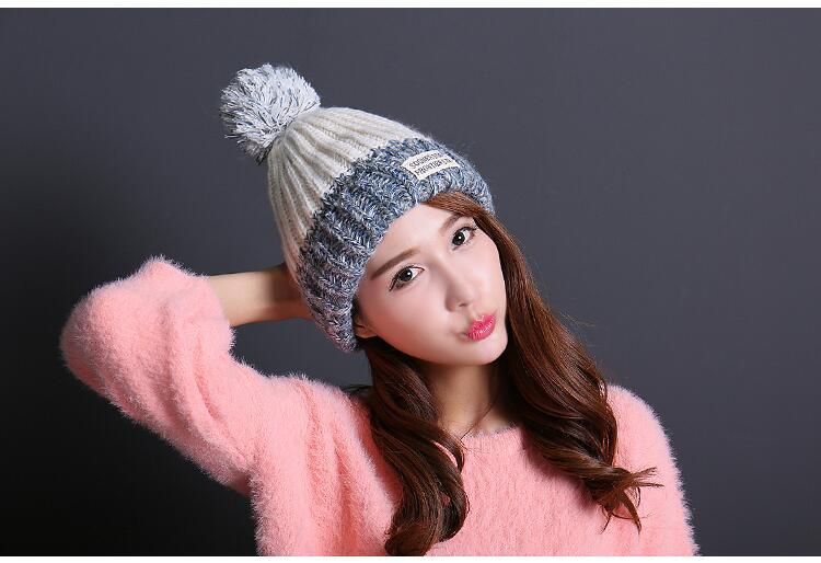 قبعة صوف دافئة نسائية 3