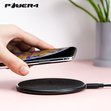 Power4 Linen Surface Fast Qi Charger Wireless For iPhone Huawei P20 P30 Portable Phone Samsung s9 s8 OPPO