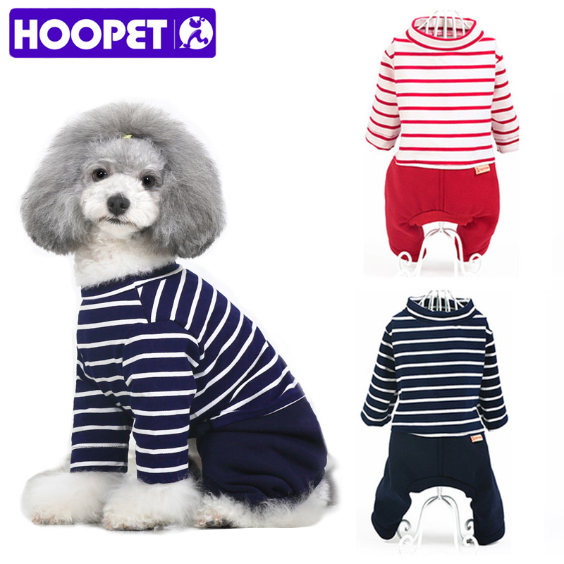HOOPET Pet Clothes Dog Puppy Teddy Small Chihuahu Four Feet Spring Summer Stripe