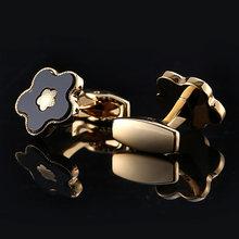 Qiqiwu camisa dourada masculina, luxuosa, para casamento, festa francesa, botões de punho