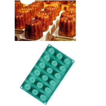 1 PC الفرنسية نمط Canneles كعكة العفن سيليكون الخبز شكل DIY أطباق الخبز المقالي سيليكون كعكة العفن المطبخ خبز لوازم