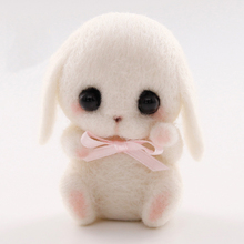 1 PCS Wool Felt DIY Craft Cute Rabbit Animal Bag Accessories pendant Handmade Material Package Kits For Needle