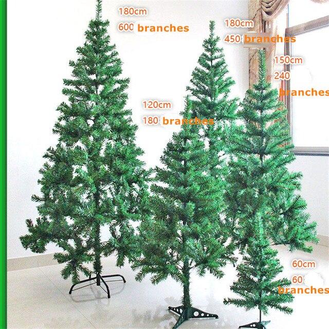 Artificial árbol de Navidad diferentes altura rama decoración de ...