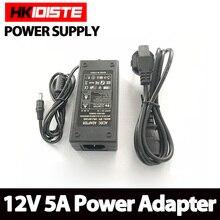 Самая низкая цена, адаптер переменного тока для DC 12 В 5A 60 Вт Светодиодный источник питания зарядное устройство для 5050/3528 SMD светодиодный светильник или ЖК-монитор CCTV